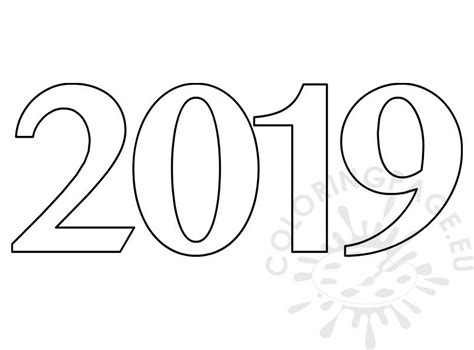 Number 2019 On White Background