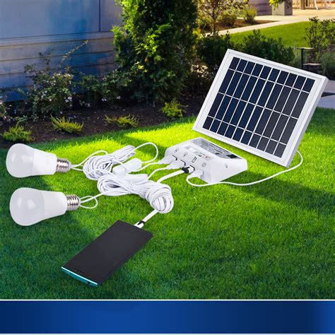 indoor and outdoor solar lights home power system d