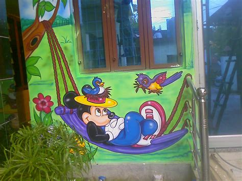 play school wall paintingd cartoon paintingschool