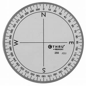 westcott c thru 360 circular protractor 35quot clear With circular protractor template