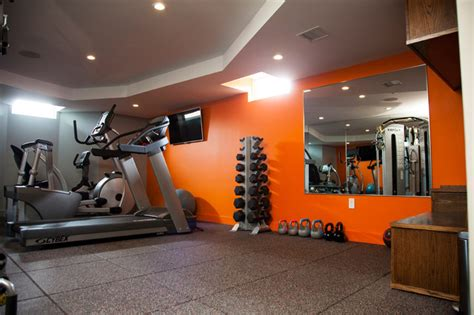 milton basement fit out   Modern   Home Gym   Boston   by BHaley Design Build