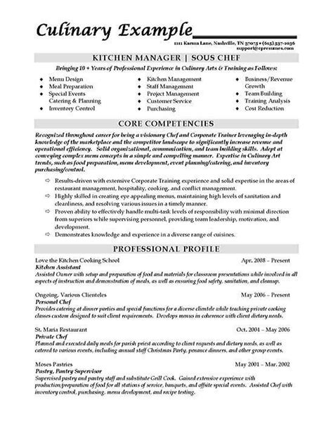 Kitchen Manager Description Restaurant by Sous Chef Resume Exle Harman Chef Resume Resume