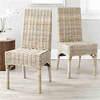 wicker dining room chairs White Wicker Dining Chairs - Home Furniture Design