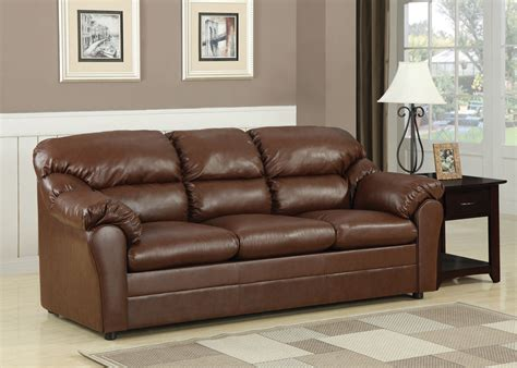 Leather Loveseat Sleeper Sofa by Acme Connell Bonded Leather Match Sofa Sleeper In Brown 15153