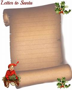 Christmas with glenda scroll paper letter to santa for Scroll letter from santa
