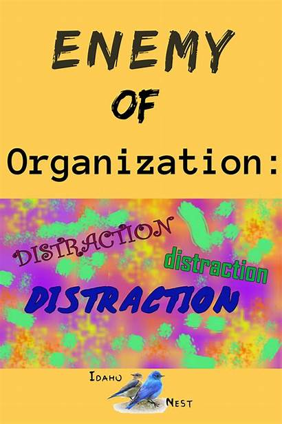 Disorganized Organizing Number Enemy Kidding Organized