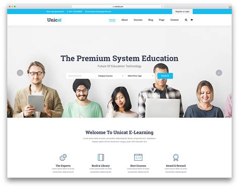 27 Best Free And Premium Education Website Templates 2019