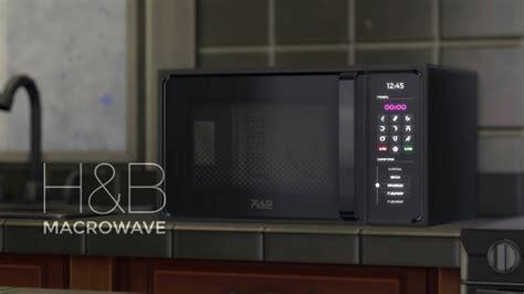 hb macrowave oven  littledica  mod  sims sims