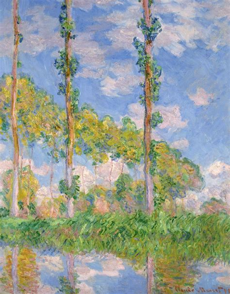 Poplars in the Sun posters & prints by Claude Monet