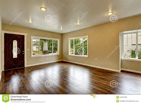 empty house interior spacious living room with new hardwood flo stock photo image 44231499