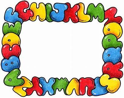 Preschool Clipart Border Clip Borders Alphabet Abc