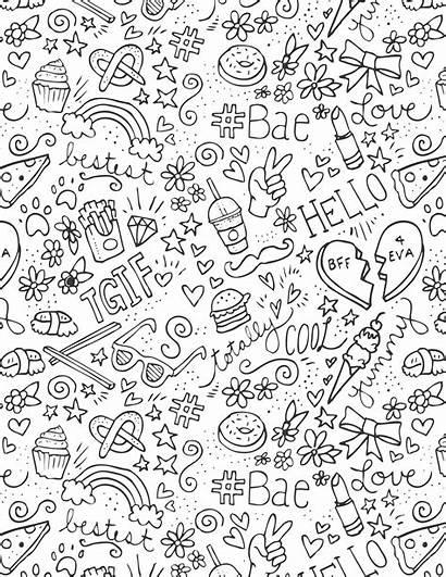 Doodle Coloring Angels Emoji Word Fashionangels Tutorials