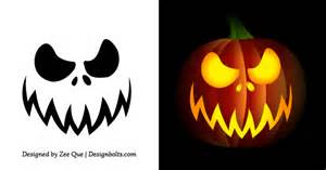 Scary Faces For Pumpkin Carving by Free Simple Amp Easy Pumpkin Carving Stencils Patterns For