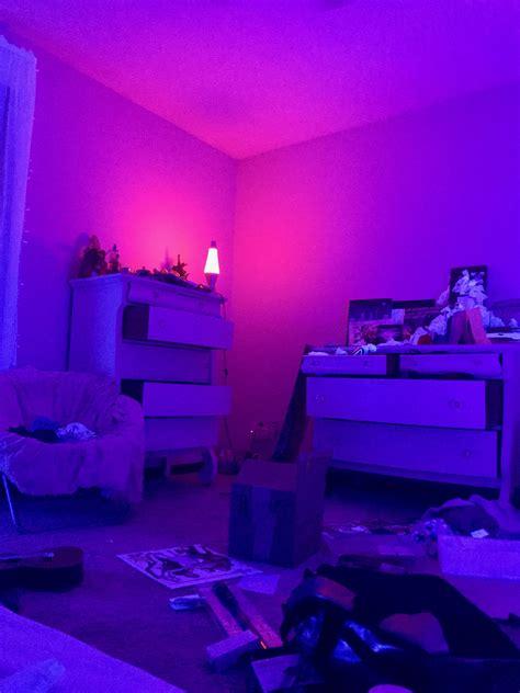 Glowy Vibe Blue  Pink Bedroom   Neon Room Neon