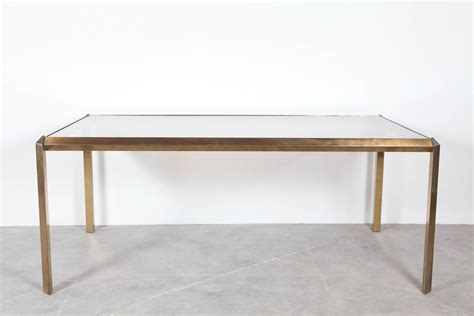 mid century glass dining table brass and glass mid century dining table at 1stdibs