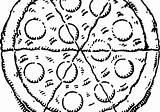 Pizza Drawing Cartoon Drawings Ramp Wheelchair Coloring Pages Paintingvalley Getdrawings sketch template
