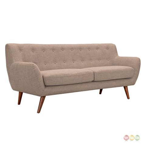 Ida Modern Beige Button Tufted Upholstered Sofa With