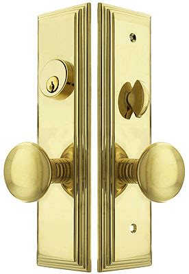 manhattan mortise lock entry set  providence knobs house  antique hardware