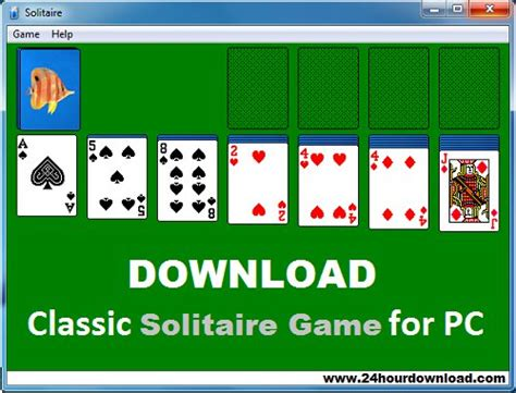 Download Classic Solitaire Game Free for Windows PC