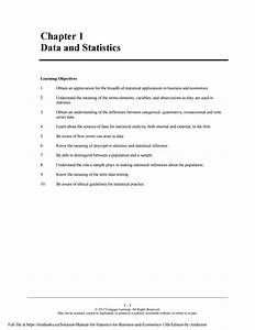 Solution Manual For Statistics For Business And Economics