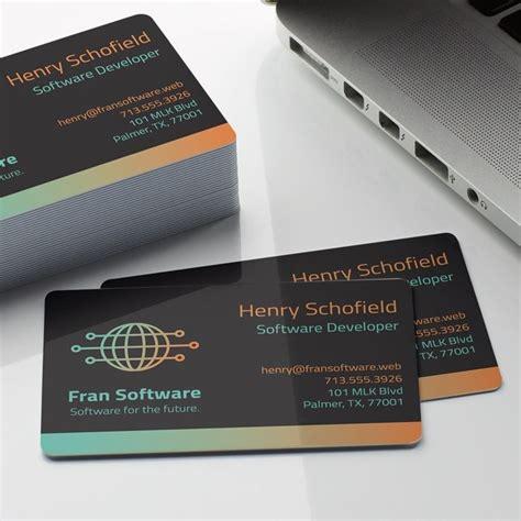 plastic business cards printing vistaprint