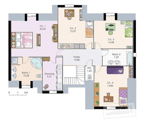 plan maison etage 2 chambres demeure familiale 2 dé du plan de demeure familiale