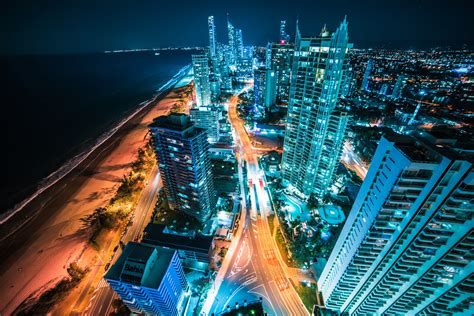 australia buildings lights  night  hd world