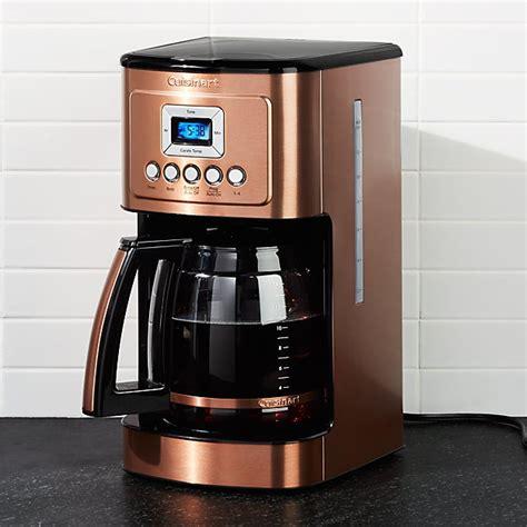 cuisinart copper  cup perfectemp programmable coffee