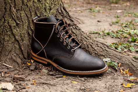Viberg Service Boot In Black Waxed Flesh in Brown for Men ...