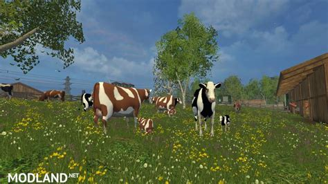 Cowhide Ls by Cow Family With Sound V 2 0 Mod For Farming Simulator 2015