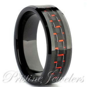 black tungsten carbide s jewelry carbon fiber wedding band promise ring ebay