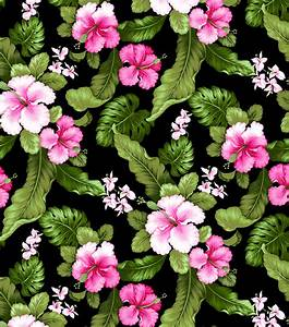 Tropical Shirting Fabric Hibiscus Fuchsia at Joann com
