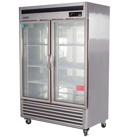 refrigerator with glass door turbo air msr 49g 2 54 quot glass door refrigerator new