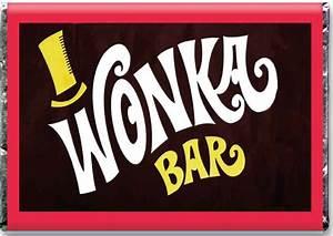 A4 ** Icing Sheet ** Willy Wonka Bar Edible Charlie And ...