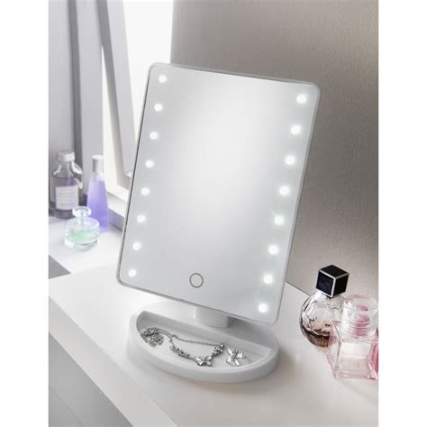 Bathroom Accessories Mirrors by Retreat Led Cosmetic Mirror White Bathroom Accessories