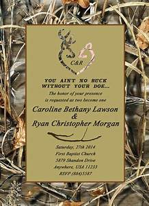 wedding invitations deer heads and deer on pinterest With free printable camouflage wedding invitations