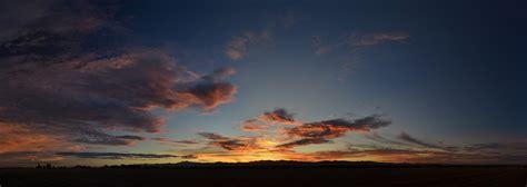 Wispy Cirrus Clouds Sunset Panoramic  Cirrus