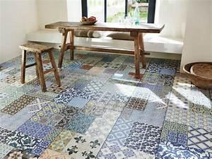 Carreaux De Ciment Adhesif Sol : des carreaux de ciment en motif sur un tapis maisonapart ~ Premium-room.com Idées de Décoration