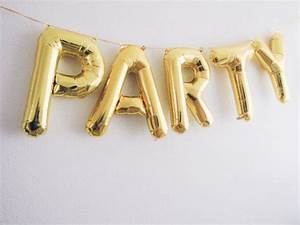 party letter balloons gold foil mylar letter balloons With gold inflatable letters