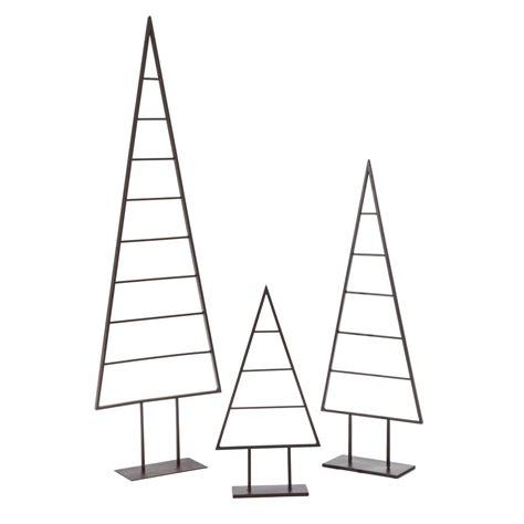 Deko Baum Metall Weihnachten by Deko Objekt Christbaum Dekorierbar Metall Einfach