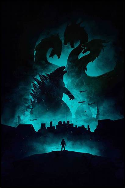 Godzilla 4k Monsters King Poster Wallpapers Background