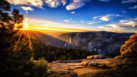 Magnificent Mountain Sunset Hdr Hd Desktop Background
