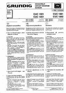 Grundig Tv Cuc1822  Cuc1881  Cuc1892  Cuc1851  Cuc1893  Service Manual  Repair Schematics