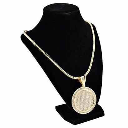 Medallion Chain Franco Gold