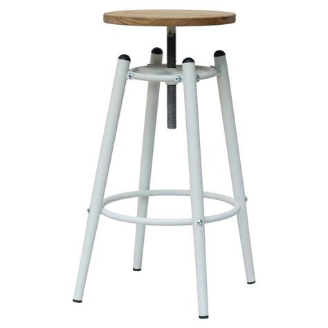 Bar Stool Top Buy This White Top Bar Stool With Wood Seat From
