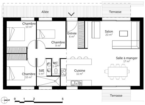 plan maison plain pied 3 chambres maison moderne