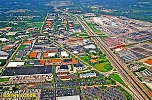 Fenton MO Industrial area around Chrysler Plant