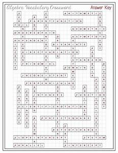 Maths Crossword Puzzles With Answers For Class 9 On ...