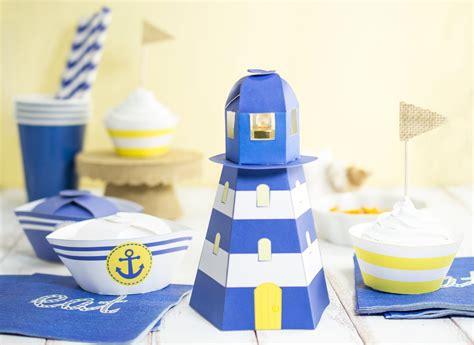 diy printable lighthouse tealight holder
