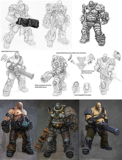 character design process  johnmccambridge  deviantart
